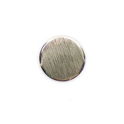 Brushed Metal Round Shank Button Silver Coloured 15mm
