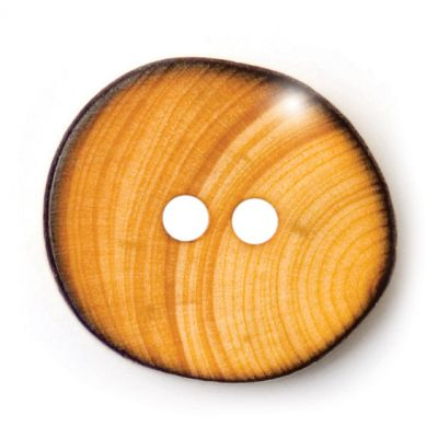Round Wooden Button 2 Hole 9mm