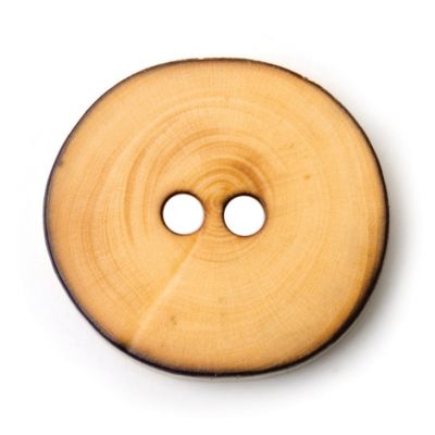 Round Wooden Button 2 Hole 14mm