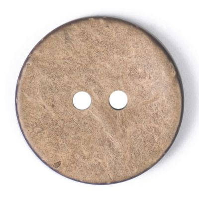 Round Coconut Shell Button - Natural - 24mm / 38L