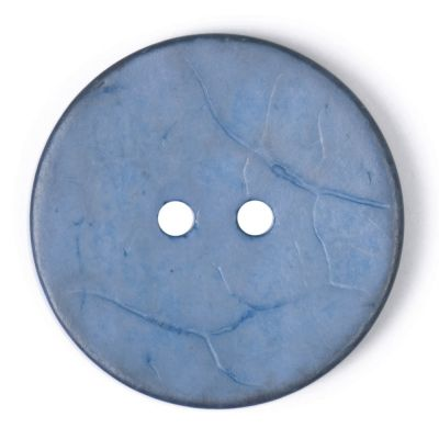 Round Coconut Shell Button - Blue - 31mm / 49L