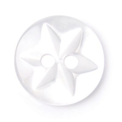 Round Polyester Flower Button 2 Hole 13mm