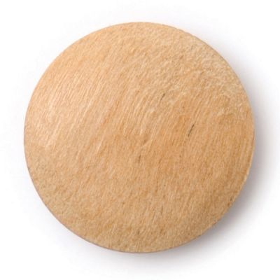 Round Wooden Smooth Shank Button 15mm