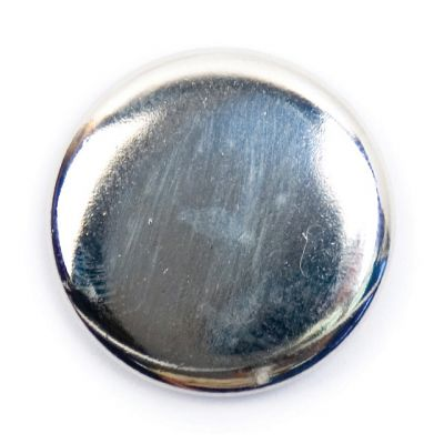 Polished Metal Round Shank Button Silver Coloured 20mm