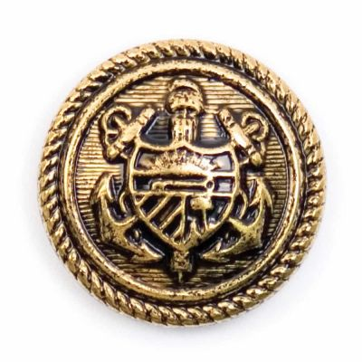 Metal Coat Of Arms Shank Button Gold Coloured 19mm