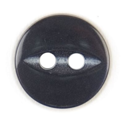 Round Fish Eye Button 2 Hole - Navy Blue - 11mm / 18L