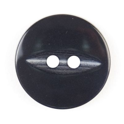 Round Fish Eye Button 2 Hole - Navy Blue - 19mm / 30L