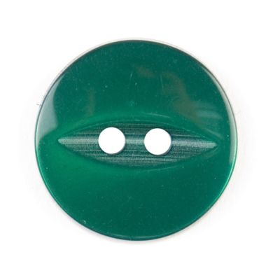 Round Fish Eye Button 2 Hole - Dark Green - 19mm / 30L