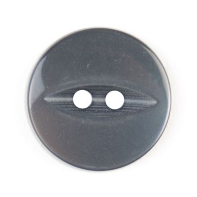 Round Fish Eye Button 2 Hole - Grey - 19mm / 30L