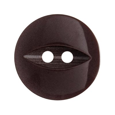 Round Fish Eye Button 2 Hole - Brown - 19mm / 30L