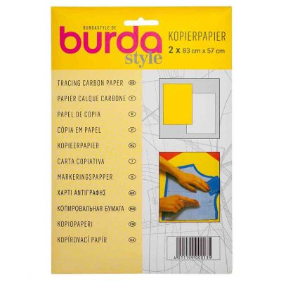 Burda Tracing Carbon Paper 81 x 55cm 2 Sheets - White And Yellow