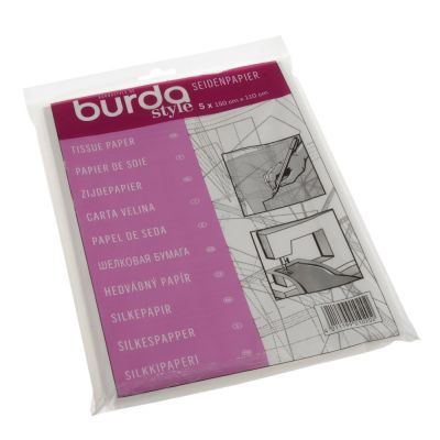 Burda Tissue Tracing Paper Plain 110 x 150cm (5 Sheets)