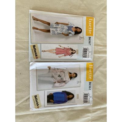 Remnant -  2 x Lisette (Butterick) Sewing Patterns- Ladies Size E5 (14-22 uk) -End of Line
