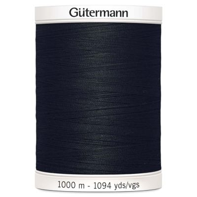 Gutermann 1000m Sew-All Polyester Sewing Thread - Colour BLK