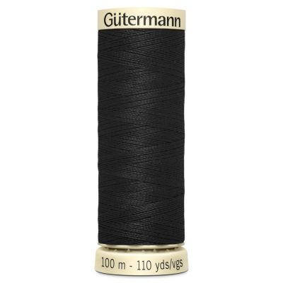 Gutermann 100m Sew-All Polyester Sewing Thread - Colour BLK
