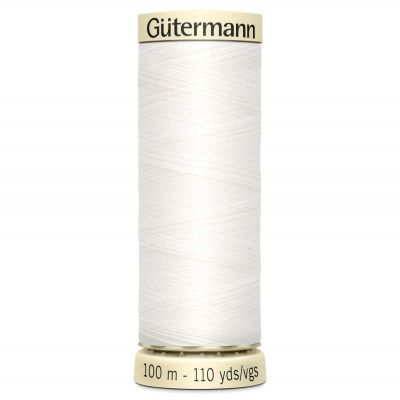 Gutermann 100m Sew-All Polyester Sewing Thread - Colour WHT