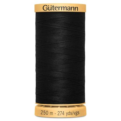 Gutermann Natural Cotton Thread: 250m: 5201 Black