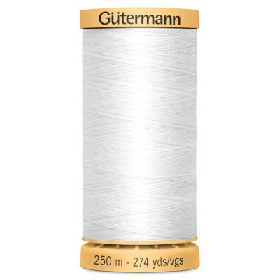 Gutermann Natural Cotton Thread: 250m: 5709 White