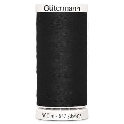 Gutermann 500m Sew-All Polyester Sewing Thread - Colour BLK