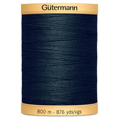 Remnant -Gutermann Natural Cotton Thread - 800m - Colour 8113 - Top of Reel broken