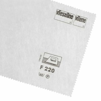 Vlieseline / Vilene Interfacing Iron On - Medium F220 / 304 - White - 90cm Wide