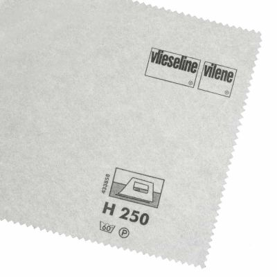 Remnant - Vlieseline / Vilene Interfacing Iron On - Firm H250 / 305 - White - 150cm x 90cm