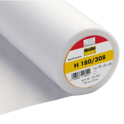 Vlieseline / Vilene Interfacing Iron On - Light - H180 / 308 - White
