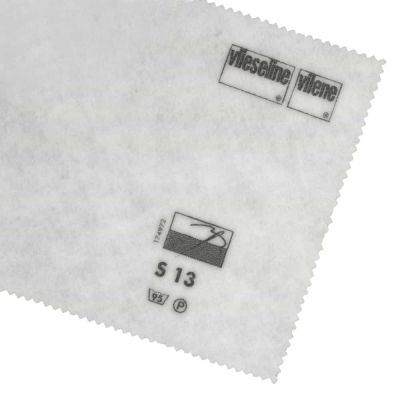 Remnant -Vlieseline / Vilene Interfacing Sew In - Heavy S13/313 - White - 74 x 90cm - Mark on one selvedge