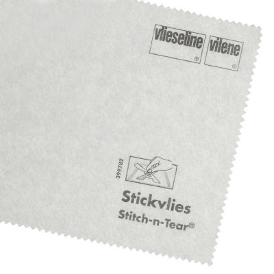 Remnant -Vlieseline / Vilene Stitch N Tear Embroidery Stabilizer - White - 90cm x 90cm - Creased