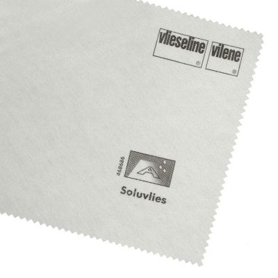 Vilene Solufleece Washaway Embroidery Stabilizer - White - 90cm