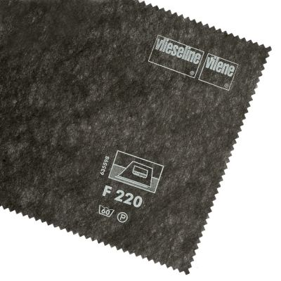 Vlieseline / Vilene Interfacing Iron On - Medium F220 / 326 - Black