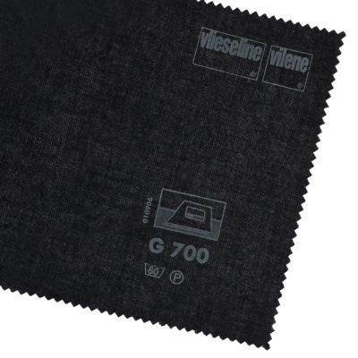 Vlieseline / Vilene Cotton Woven Interlining - Medium G700 - Black - 1m x 90cm