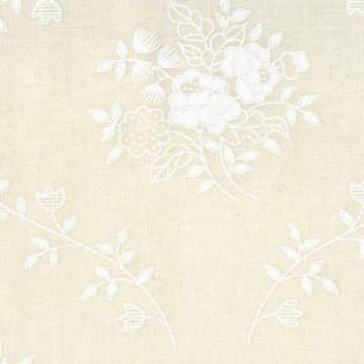 White On Cream Floral Bouquet Tone On Tone Extra Wide Backing Fabric