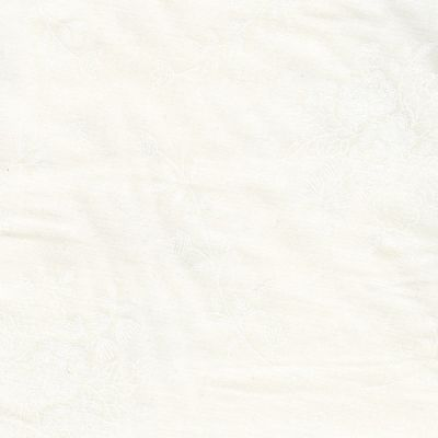 White On White Floral Bouquets Tone On Tone Extra Wide Backing Fabric