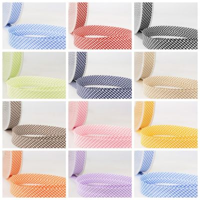 La Stephanoise Bias Binding - 30mm Wide Small Gingham In 11 Colours