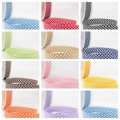 La Stephanoise Bias Binding - 30mm Wide Gingham In 11 Colours