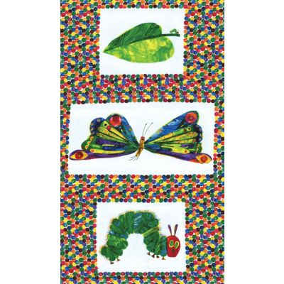 Andover - The Very Hungry Caterpillar - 60cm Butterfly Panel