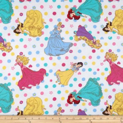 Nutex - Disney Flannel Fabric - Princess