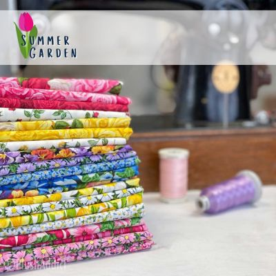 Makower - Summer Garden - Fat Quarter Bundle - 18 Fabrics