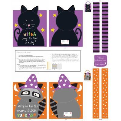 Remnant - Studio E - Huggable And Loveable - Halloween Treat Bags Panel - 88 x 110cm - Ex Didplay