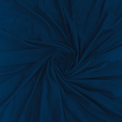 Solid Colour Bamboo Jersey Fabric - Dark Denim