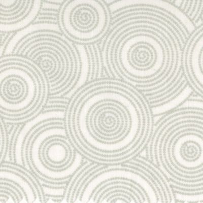 Grey White Dotted Circles Tone On Tone Extra Wide Backing Fabric