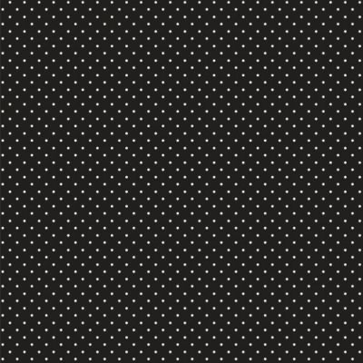 Cotton Fabric - Pinspot Black