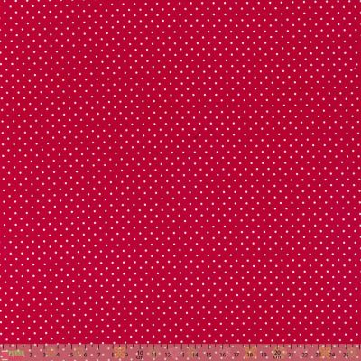 Cotton Fabric - Pinspot Cherry