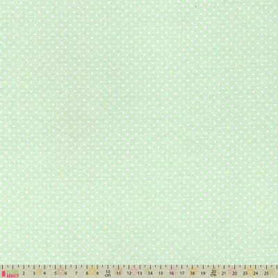 Cotton Fabric - Pinspot Mint