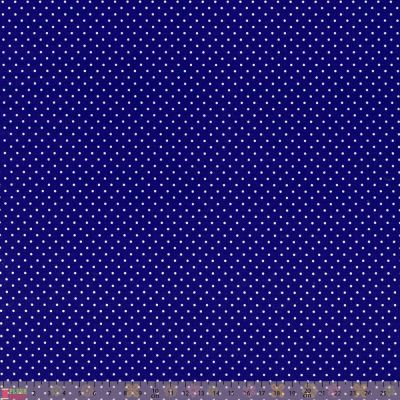 Cotton Fabric - Pinspot Royal Blue