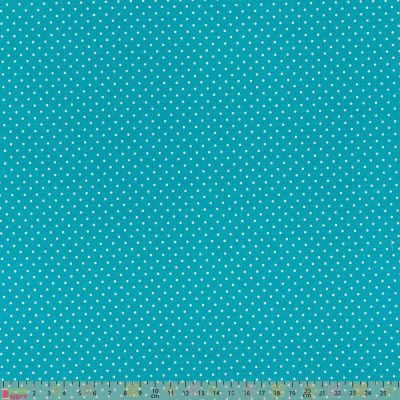 Cotton Fabric - Pinspot Turquoise