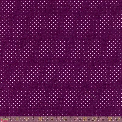 Cotton Fabric - Pinspot Purple