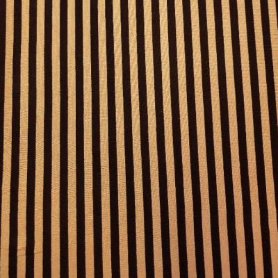 Cotton Jersey - Black And Gold Stripe