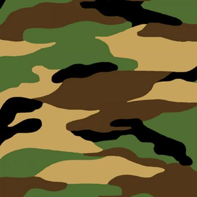 A.E. Nathan - Flannel Fabric - Green Camouflage